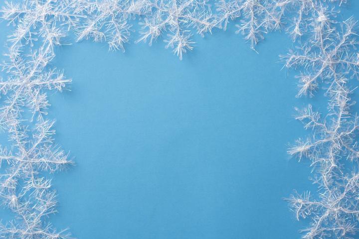 image of border of white snowflake decorations