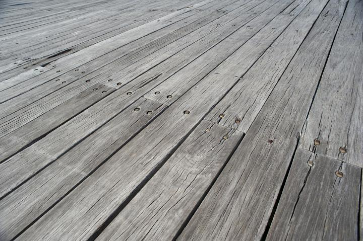 Image Of Weathered Wooden Decking Freebie Photography