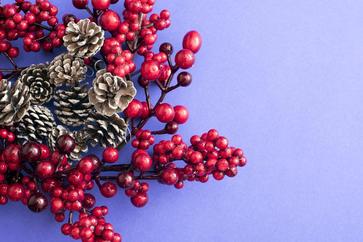 image of berry cone christmas wreath