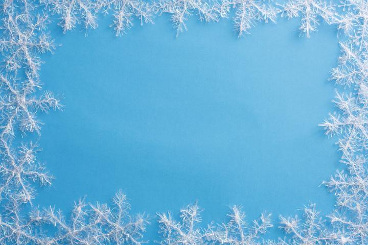 image of winter snowflake frame