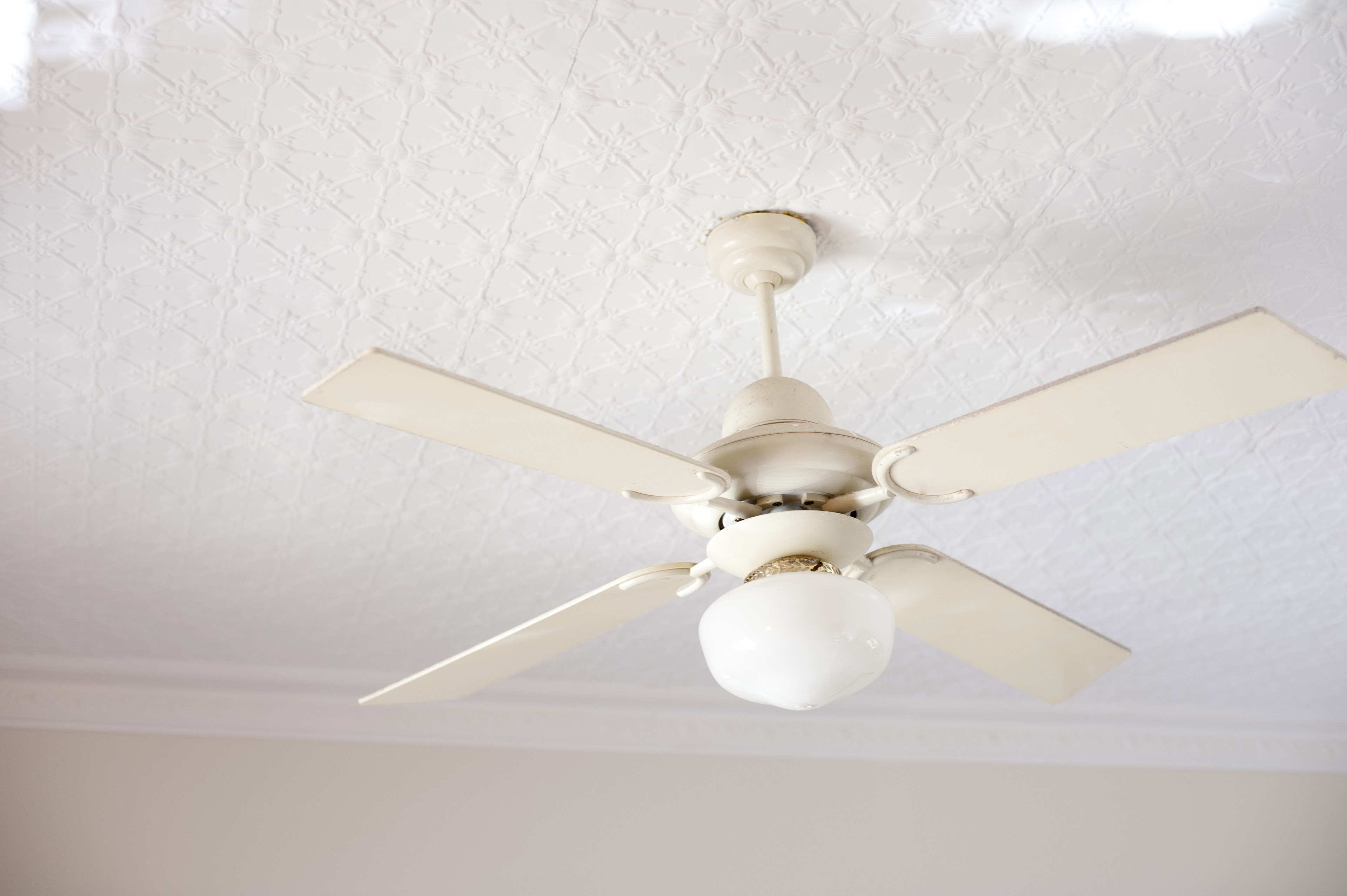 image of retro ceiling fan with light fixture freebie photography