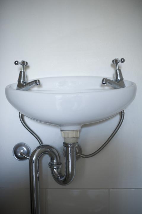 Image Of Simple Ceramic White Hand Basin Freebie Photography