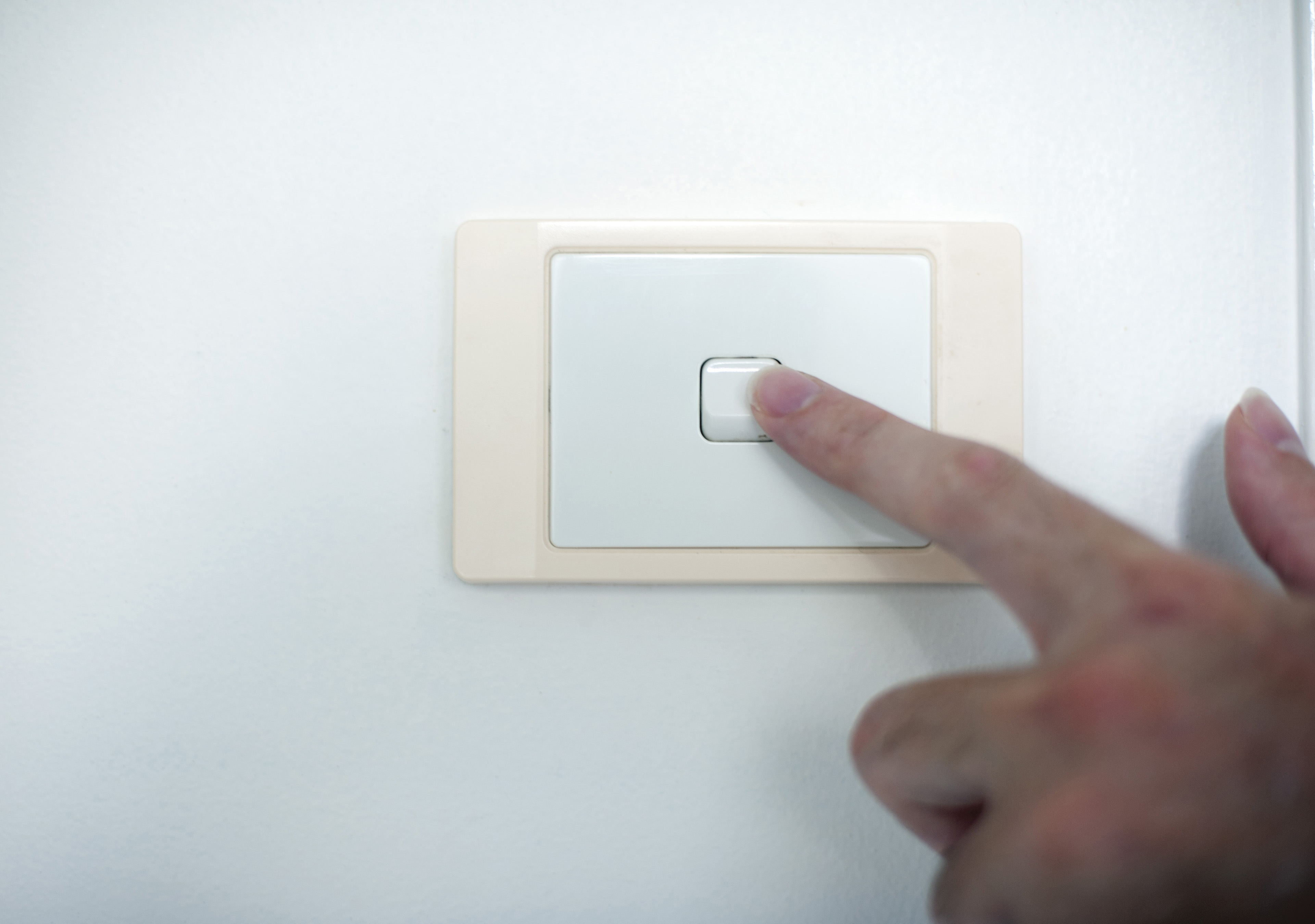 Image of Finger switching off a light switch | Freebie.Photography