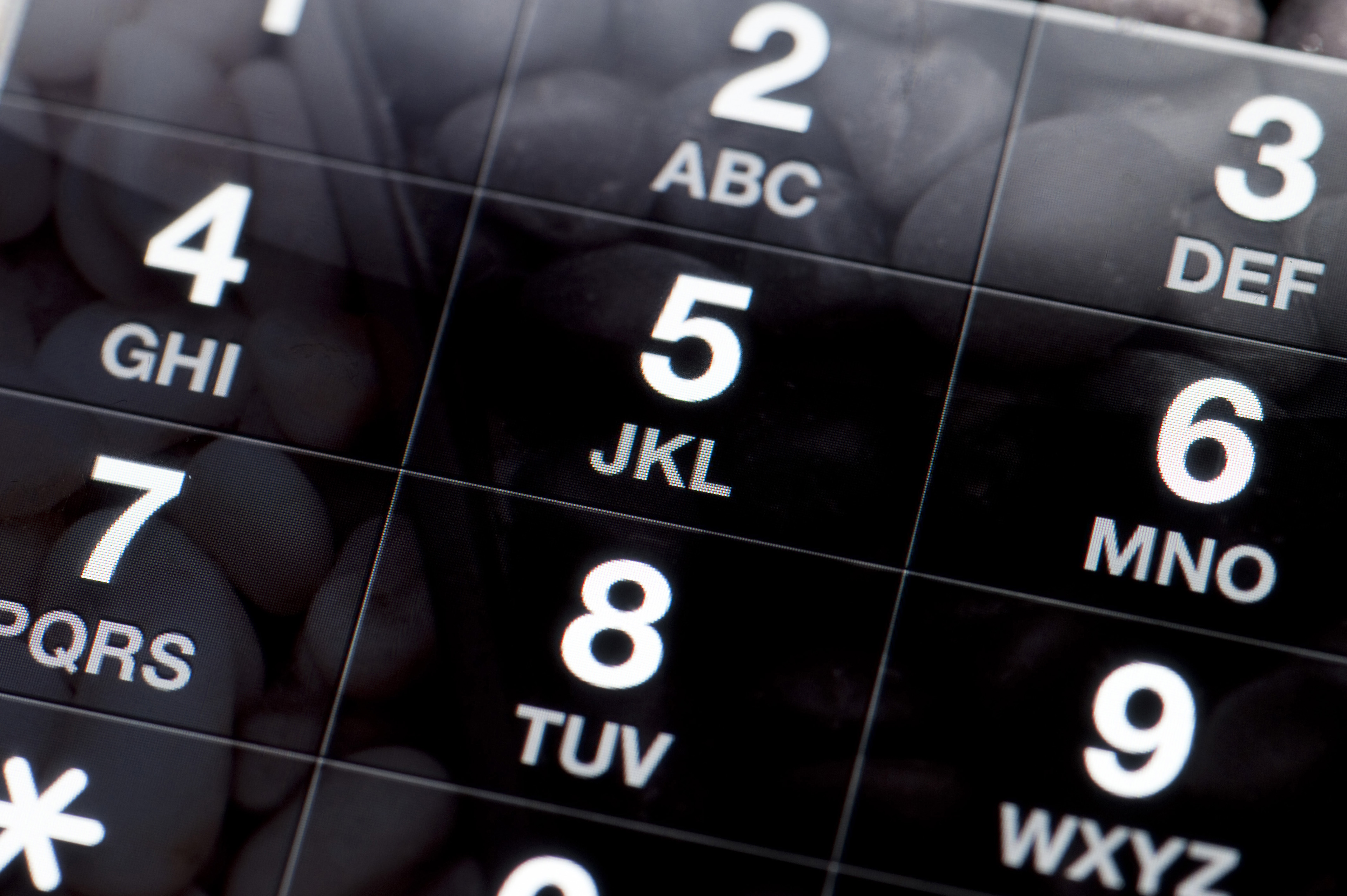 Image of Black and White Dial Pad of a Mobile Phone | Freebie ...