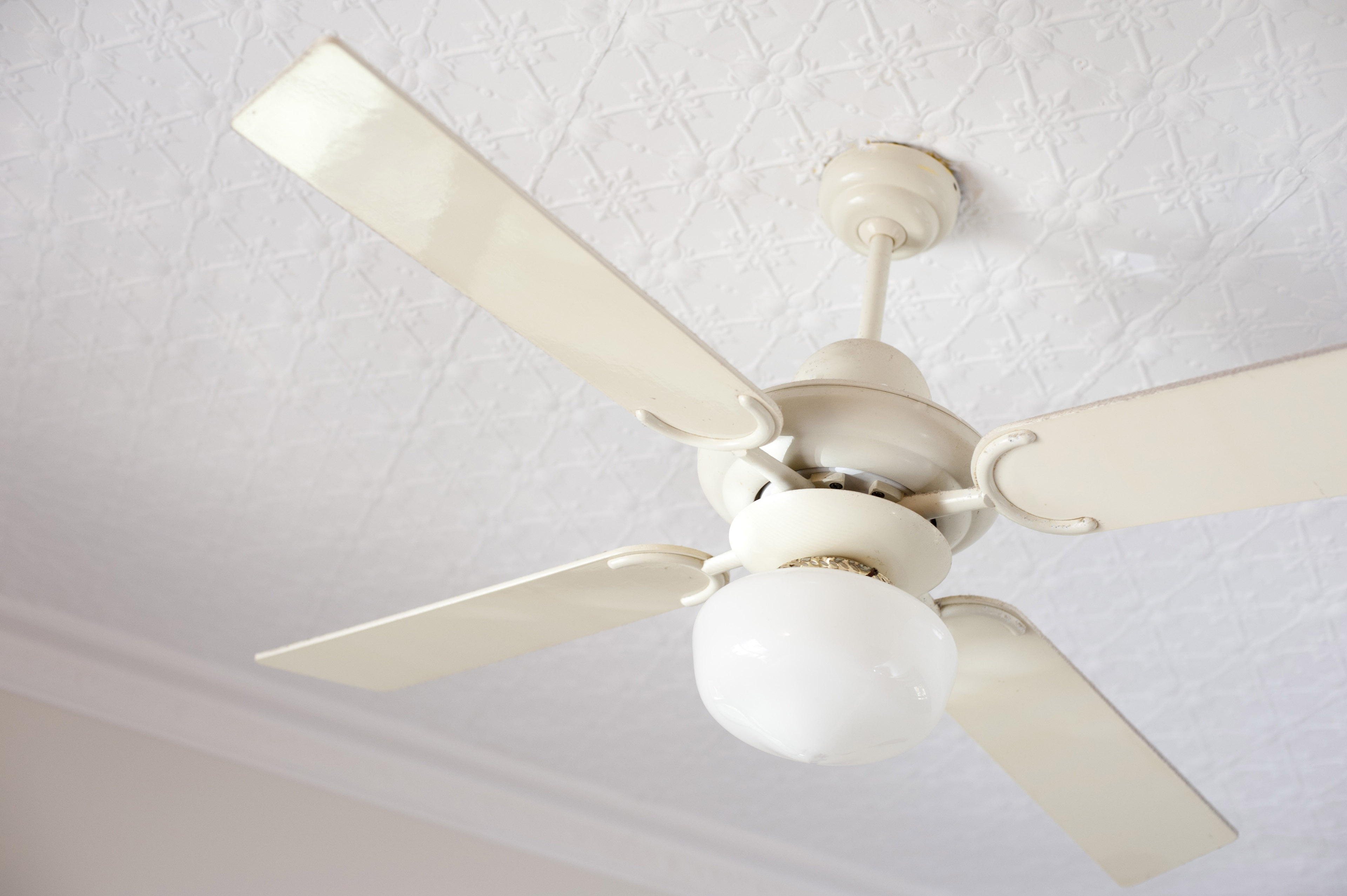 Image Of Vintage White Ceiling Fan Freebie Photography